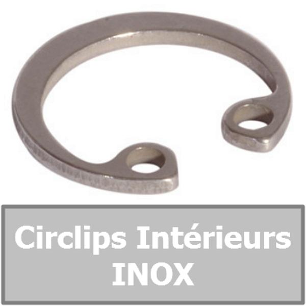 CIRCLIP 6.00 mm Intérieur (pour alésage) en INOX