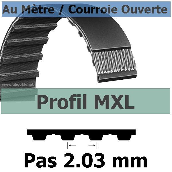 Courroie Crantée/Linéaire MXL019 / 4.80 mm Fibre Verre Vendue au mètre