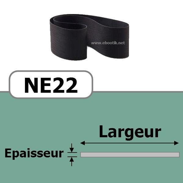 COURROIE PLATE NE22/670x15 mm