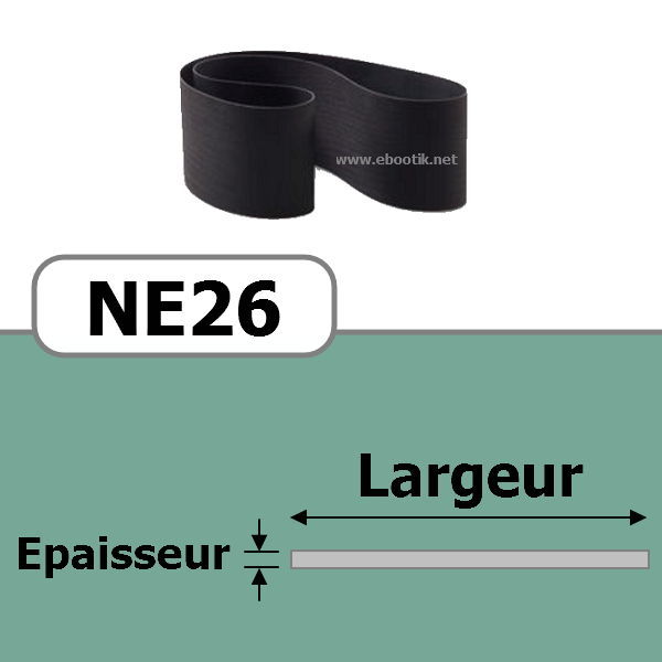 COURROIE PLATE NE26/500x10 mm