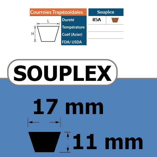 COURROIE TRAPEZOIDALE SOUPLEX17 THERMOSOUDABLE