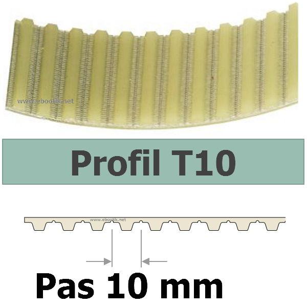 COURROIES CRANTEES / DENTEES T10 (PAS 10 mm)