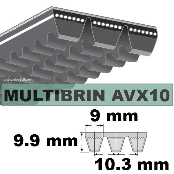 COURROIE 2xAVX10x1375 mm La/Le