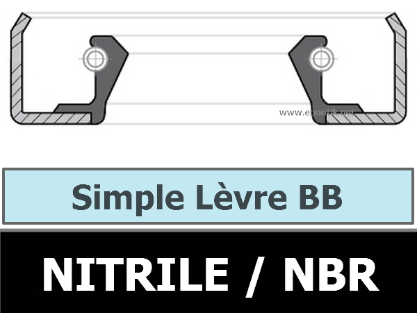 Joint 49.21X 68.26X 9.52 Forme BB NBR/Nitrile