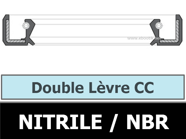 JOINT 26x40x10 CC DOUBLE LEVRE NBR/NITRILE+ RESSORT INOX