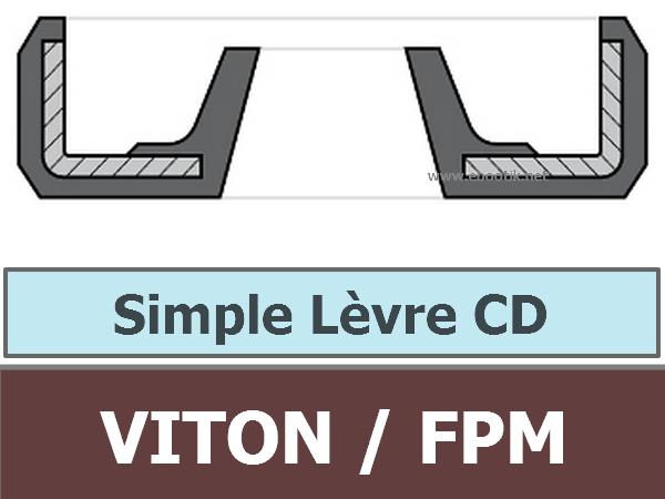 JOINT 10x14x3 CD / SIMPLE LEVRE FPM/Viton