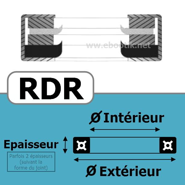 JOINT RACLEUR 12.70X25.48X6.35 <br>RDR NBR/Nitrile Noir