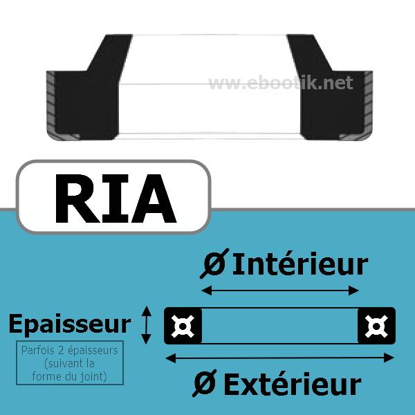 JOINT RACLEUR 12.50X20.00X4/6 <br>RIA NBR/Nitrile Noir