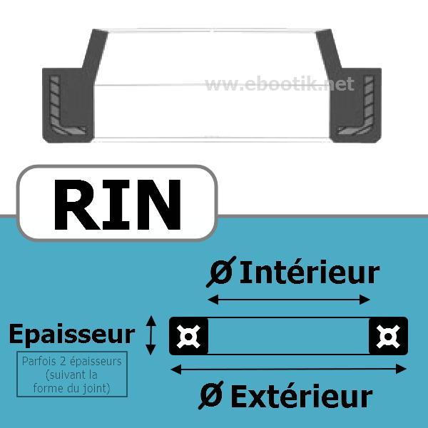 JOINT RACLEUR 19.05X29.05X5/7 <br>RIN NBR/Nitrile Noir