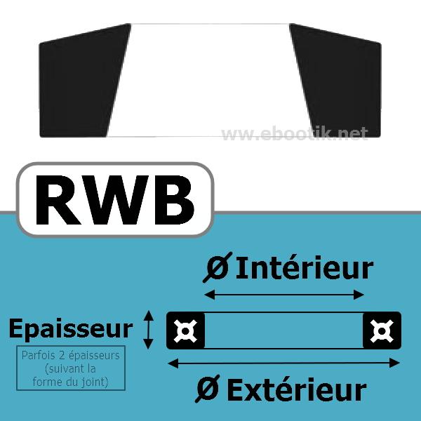JOINT RACLEUR 9.52X13.72X3.05 <br>RWB NBR/Nitrile Noir