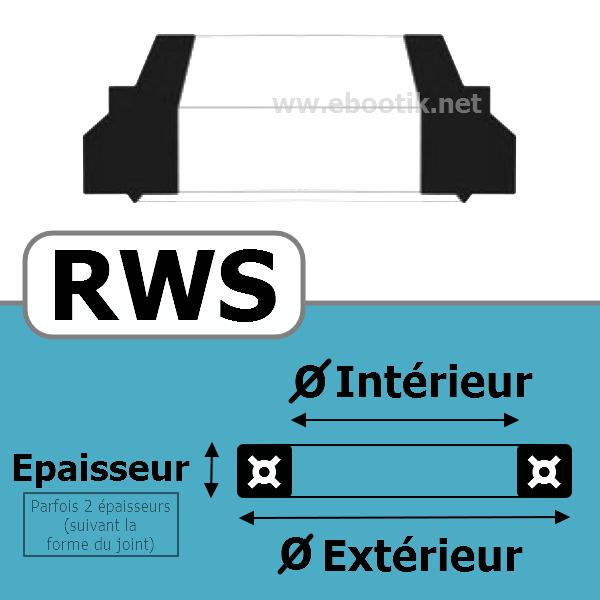 JOINT RACLEUR 25.40X38.10X5.28/8.9 <br>RWS NBR/Nitrile Noir