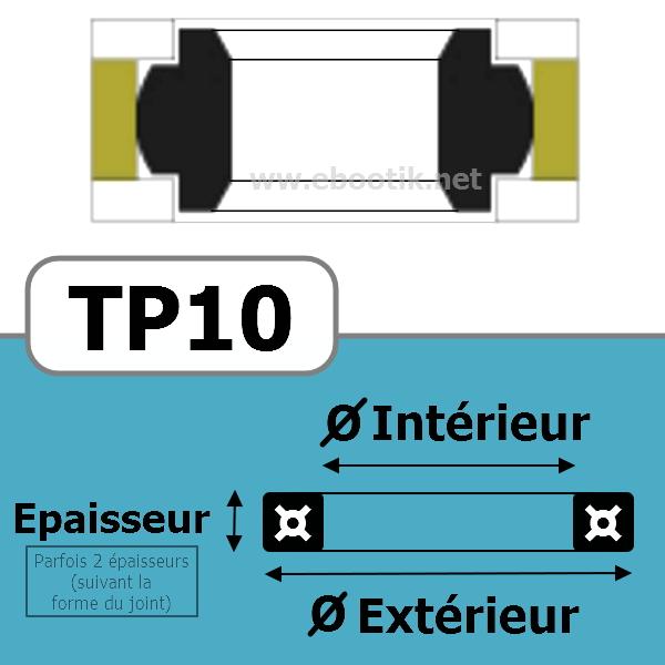 JOINT TETE DE PISTON 40x30x8 TP10 PU 94 Sh